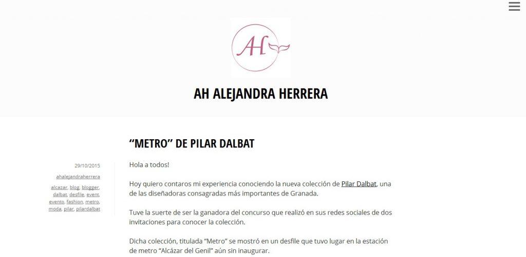 Desfile Pilar Dalbat blogger 1