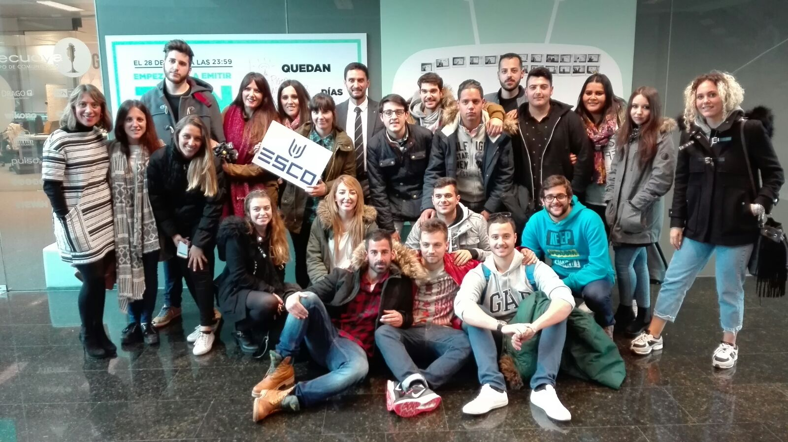 El alumnado de ESCO ha viajado a Madrid para conocer distintos medios de comunicación